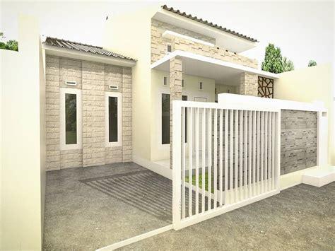 desain teras batu alam rumah minimalis type desain