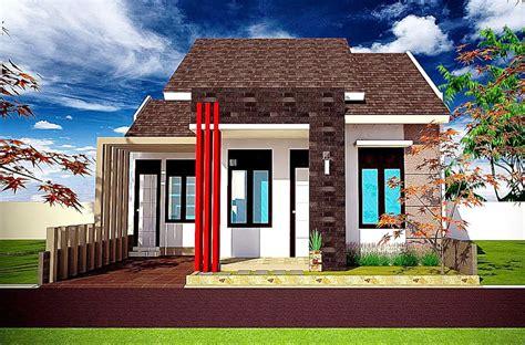 desain rumah tampak depan dengan batu alam - sinergi stone