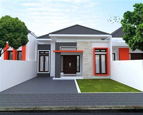 rumah minimalis tampak depan batu alam unik