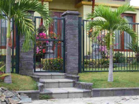 model pagar depan minimalis batu alam terbaik ndik home