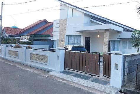 desain pagar batu alam minimalis model rumah
