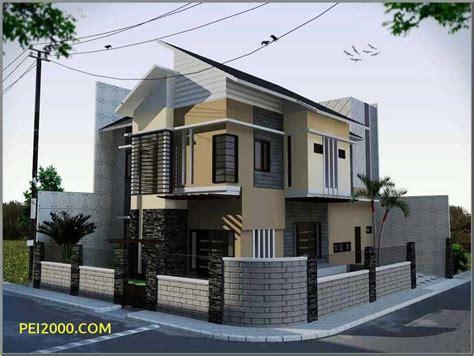 denah pagar rumah minimalis kombinasi batu alam modern