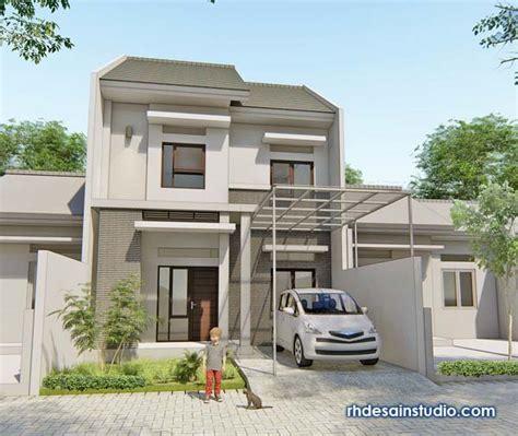 desain tampak depan rumah minimalis lantai lebar meter