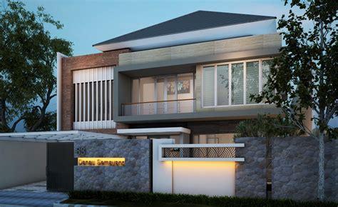 Desain Rumah Minimalis 2 Lantai Dengan Batu Alam Sinergi Stone