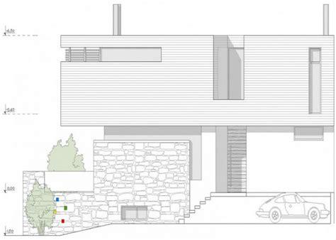 rumah modern minimalis tampak depan batu alam