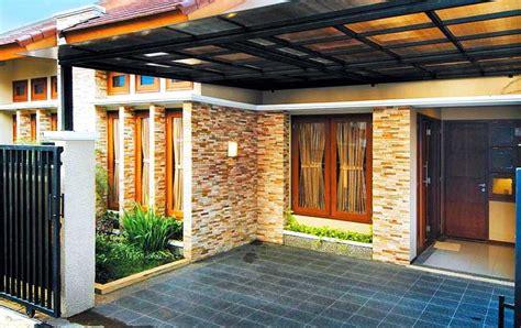 cantiknya rumah minimalis tampak depan batu alam