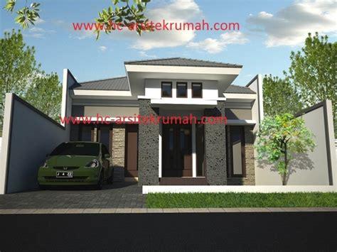 desain rumah tampak depan batu alam rumah
