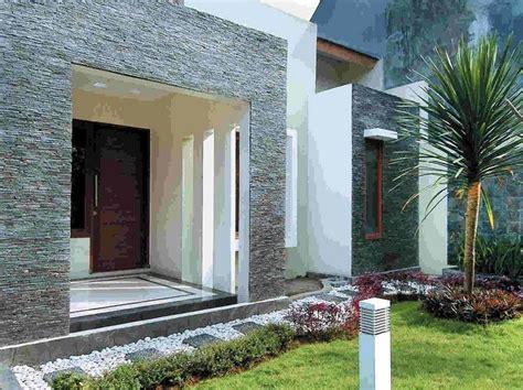 teras depan rumah kombinasi batu alam home