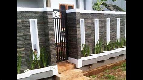 top pagar rumah tembok batu alam homkonsep