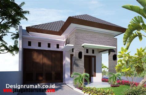 lihat desain rumah batu alam gambar model teras