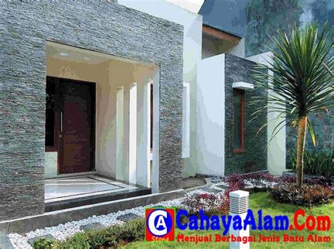 desain rumah cantik batu alam minimalis