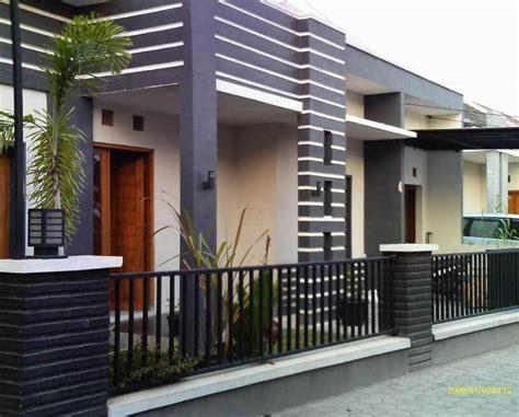 desain teras depan rumah batu alam modern cantik