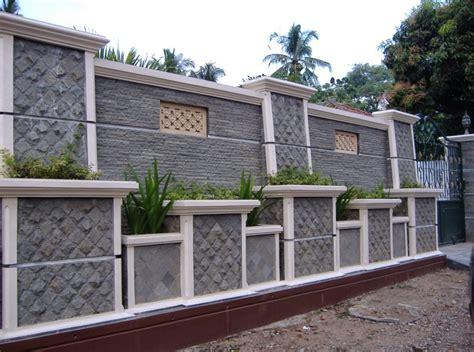 contoh desain pagar rumah batu alam terbaru desain