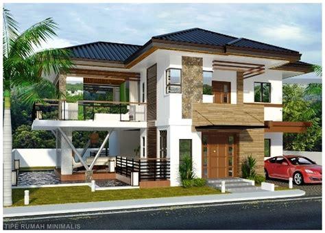 desain rumah minimalis lantai batu alam