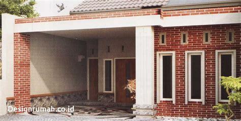 desain rumah batu alam tampak depan