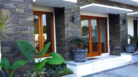 model teras rumah minimalis batu alam ndik home
