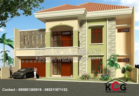 perpaduan warna cat tembok batu alam desain rumah
