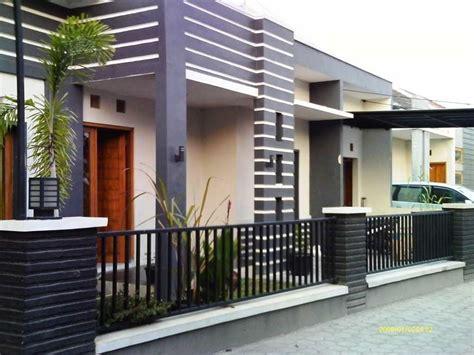 model pagar rumah kayu desain rumah minimalis
