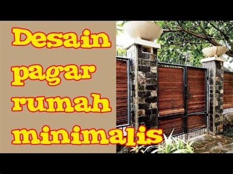 model desain pagar rumah minimalis batu alam besi kayu
