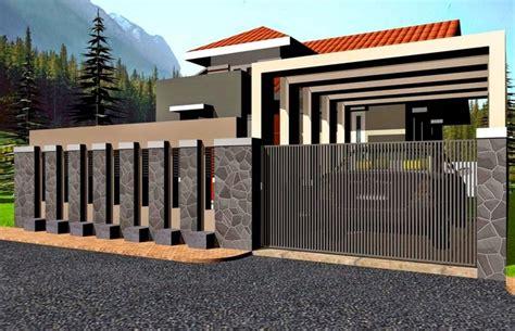 contek yuk desain teras pagar rumah minimalis