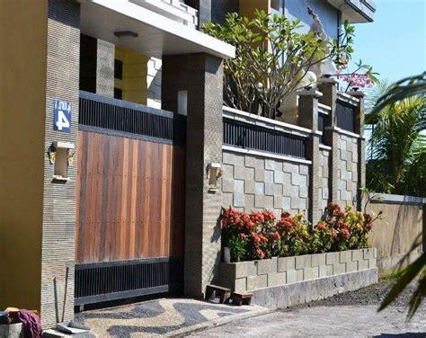 model desain gambar pagar tembok rumah minimalis
