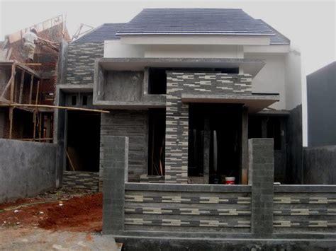 desain teras rumah batu alam renovasi rumahnet