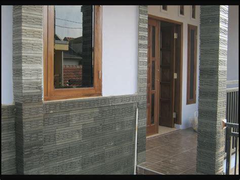 contoh dinding batu alam rumah minimalis rumah