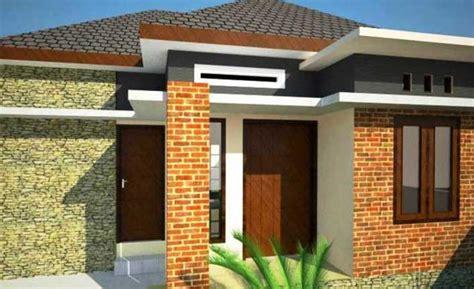 desain rumah minimalis lantai sederhana batu alam