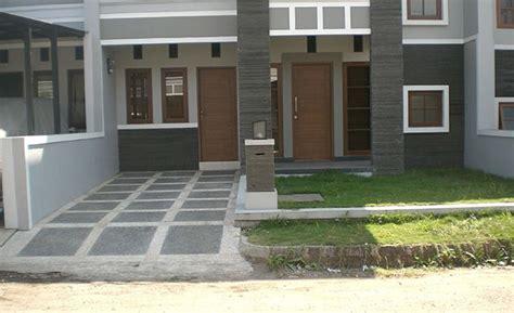 model carport minimalis batu alam garasi