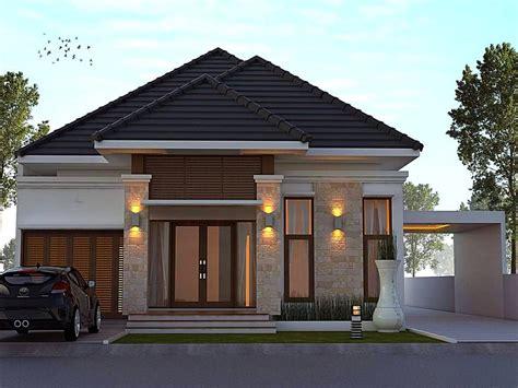 desain rumah minimalis terbaru model teras batu